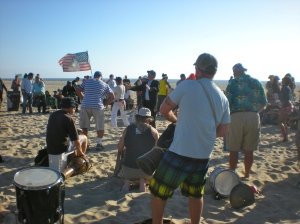 drum circle at Venice Beach