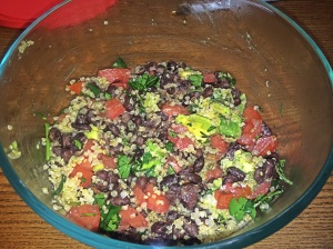 black beans and quinoa