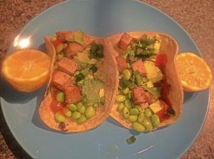 edamame fusion tacos