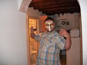My friend Mischa, in his Venizian maska